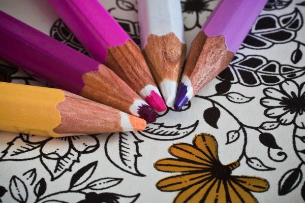 Adult Coloring Book With Pencils