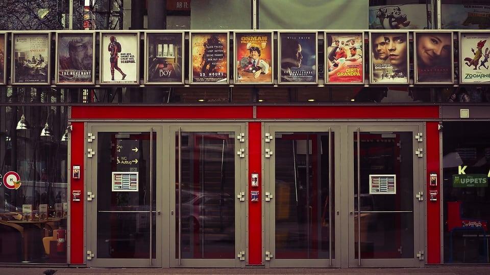 Movie Theater Entrance image courtesy of Pixabay