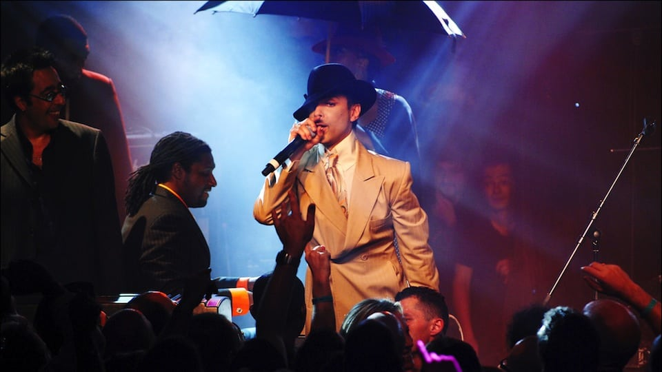 Prince in Fedora (courtesy of Getty)