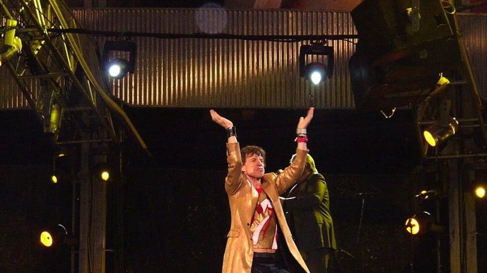 Mick Jagger in concert (courtesy of Pixabay)