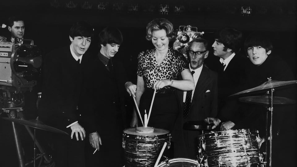 Beatles with Julie Harris