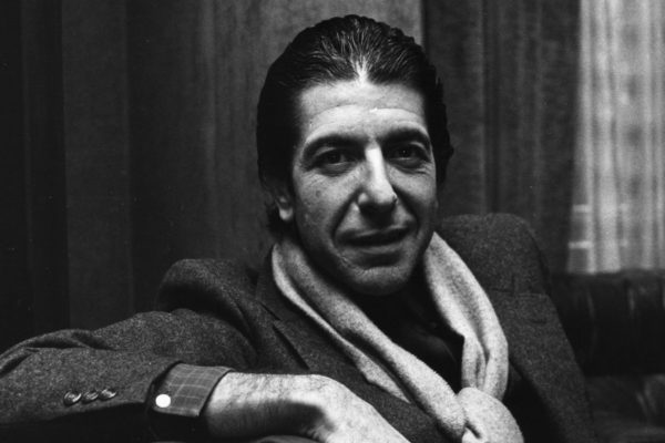 Leonard Cohen in Black and White Getty Images