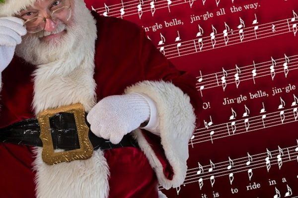 Santa with Jingle Bells Music (Public Domain)