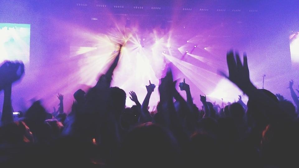Pink concert crowd